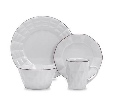 La Mesa Origamy Dinner Set 16 Pcs Serve 4 Persons White Color