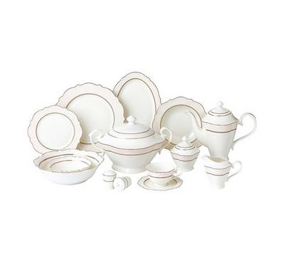 La Mesa Bone Porcelain Dinner Set 85 Pcs Serve 12 Persons
