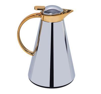 Sahara 1L Steel Vacuum Flask Silver/Gold Color