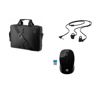 HP Bundle with HP 200 Mouse, Doha Headset and Top Load Bag