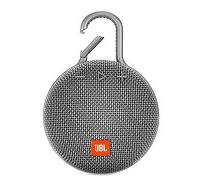 JBL Clip 3 Wireless and Bluetooth Speaker, Grey