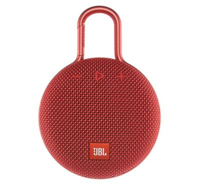 JBL Clip 3 Wireless and Bluetooth Speaker, Red
