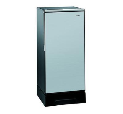 هيتاشي ثلاجة ، 200 لتر ، باب واحد، التبريد المباشر، باب زجاجي، فضي