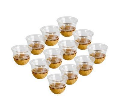 12 Pcs Cawa Cups With Bamboo Base