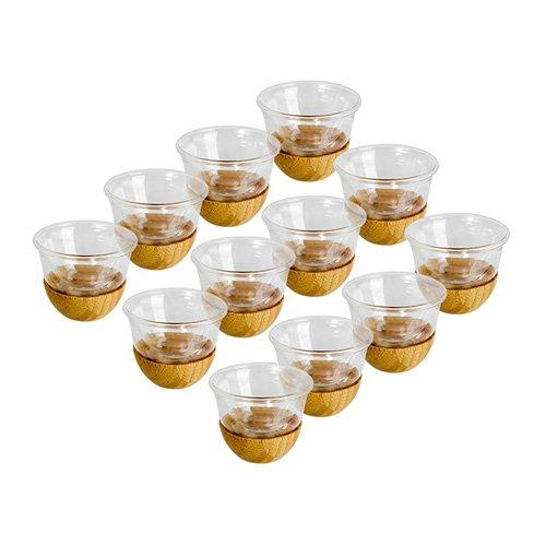 12 Pcs Cawa Cups With Bamboo Base
