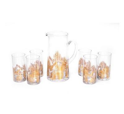 Gold Leaf 7 Pcs Jug Set Gold Pattern