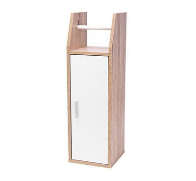 خزانة لحفظ ورق الرول لون أبيض مقاس 20*20*65سم