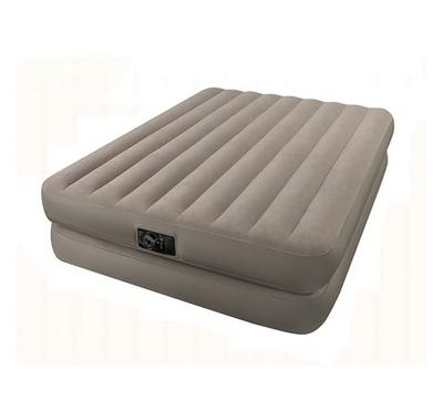 Intex Queen Comfort Raised Airbed With Built-in-battery Pump