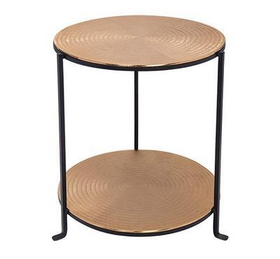 طاولة جانبية معدن لون أسود مقاس 46.5*46.5*57.5سم