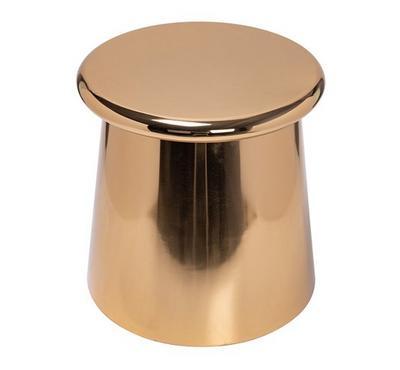 طاولة جانبية معدن لون ذهبي مقاس 41*41سم