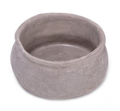 Planter Cement Bowl  Taupe