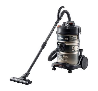 Hitachi 995D 25.0L Vacuum Cleaner Drum Type 2300W, Gold Black/Steel Body