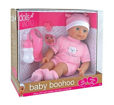 Dolls World Baby Boohoo 18 Inches Real Tears Crying Baby Girl Doll with Accessories