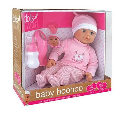 Dolls World Baby Boohoo 18 Inches Real Tears Crying Baby Girl Doll
