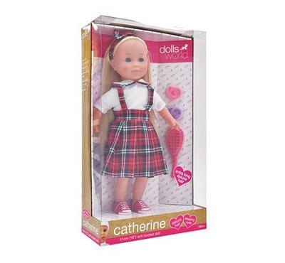 Dolls World Dolls Catherine 16 Inches Doll on a Dress