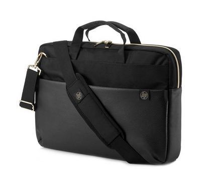HP Pavilion Accent Briefcase 15, Black/Gold