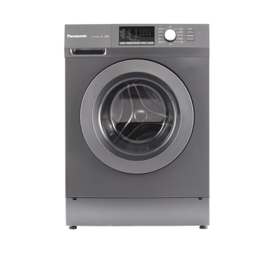 Panasonic Front Load Washer, 7kg, 1200 RPM, 12 Programs, Child Lock, Silver