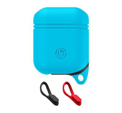 MasterShield Waterproof Case For Apple Airpods & Ear Hook, Blue
