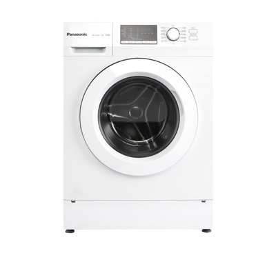 Panasonic Front Load Fully Automatic Washer, 7kg, 1200 RPM, 12 Programs, Child Lock, white