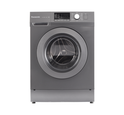 Panasonic Front Load Fully Automatic Washer, 8kg, 1200 RPM, 12 Programs, Child Lock, Color Silver