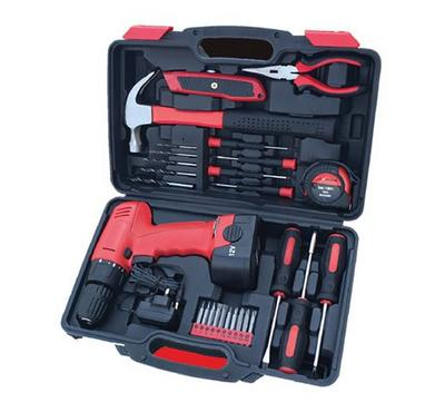 Geepas 12V Cordless Drill with Combination Tool Kit 27 pcs