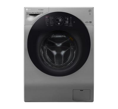 LG Front Load Washer/Dryer, 12KG/8KG, Stainless Silver