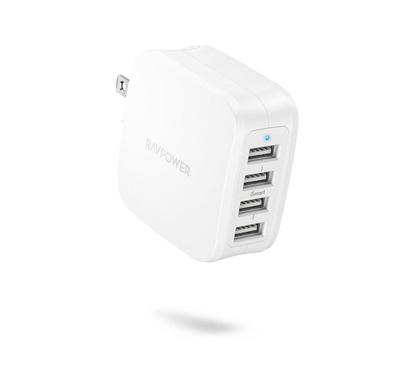 RavPower 40W 4-Port Wall Charger (UK), White