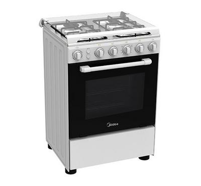 Midea Gas Cooking Range w/ Grill, 60x60cm, Full Safety, White