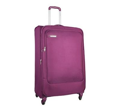 Carlton HAMILTON Expandable Spinner 79cm Luggage Trolley Purple