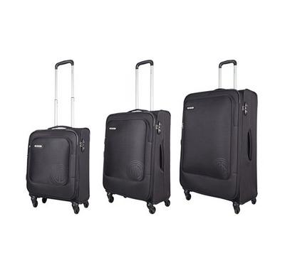 Carlton 3pc Expandable 81 SPINNER Luggage Trolley Black