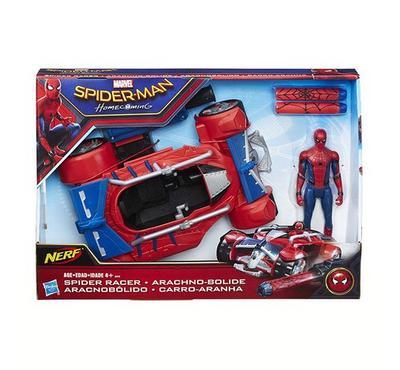 هاسبرو، سيارة سبيدرمان مع طلقات مطاطية، لون أحمر وأزرق