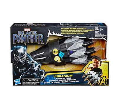 Hasbro Marvel Black Panther Vibranium Power FX Claw with Sounds Black & Grey