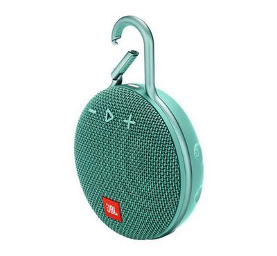 JBL Clip 3 Bluetooth and Portable Speaker, Water Proof, Teal