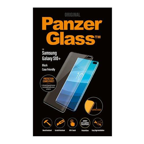 PanzerGlass Samsung S10 Plus Screen Protector Case Friendly, Black