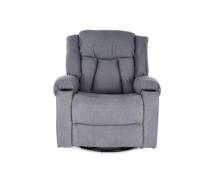 HOMEZ Rocking/Swivel Recliner Armchair with full Push Back, Grey