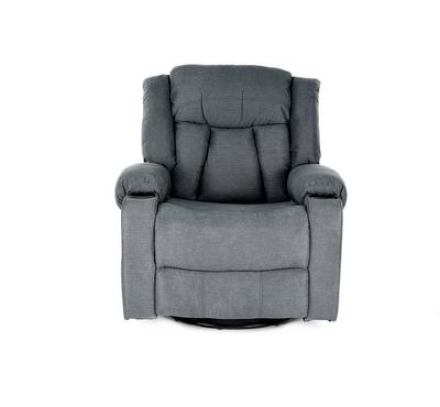 HOMEZ Rocking/Swivel Recliner Armchair with full Push Back, Smoke Grey
