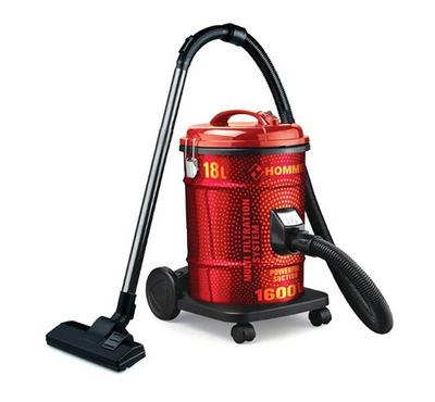 Hommer 1600 W 18 L Drum Type Vacuum Cleaner Red