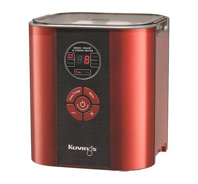 Kuvings Greek Yogurt and Cheese Maker. Capacity 2L. Red