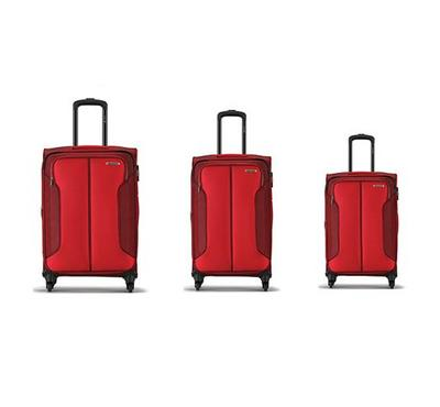 Carlton 4 Wheel 3 pc [58,68,78] Luggage Set Red