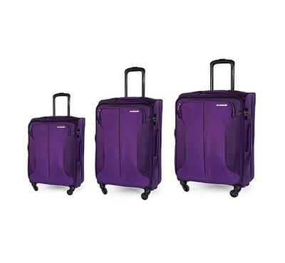 Carlton 4 Wheel 3 pc [58,68,78] Luggage Set Purple