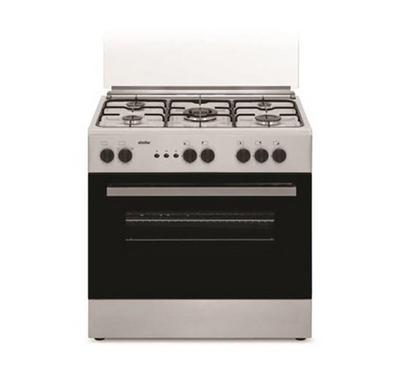Simfer 80 x 55 Freestanding Cooker, 5 Gas Burner, Full saftey, Gas Oven and Grill, Inox