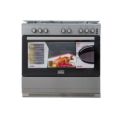 Simfer 90 x 60 Freestanding Cooker, 5 Gas Burner, Full safety, Gas Oven and Grill