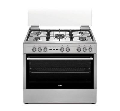 Simfer Freestanding Cooker,90 x 60, 5 Gas Burner, Full safety, Steel