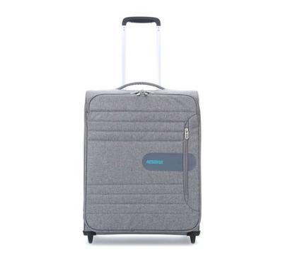 American Tourister Sonic Surfer 55CM Cabin Carry Trolley Grey