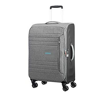 American Tourister Sonic Surfer 68CM Luggage Carry Trolley Grey