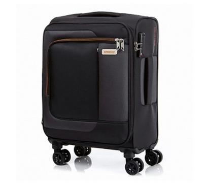 American Tourister Sens SP 55CM Cabin Carry Trolley Black Orange