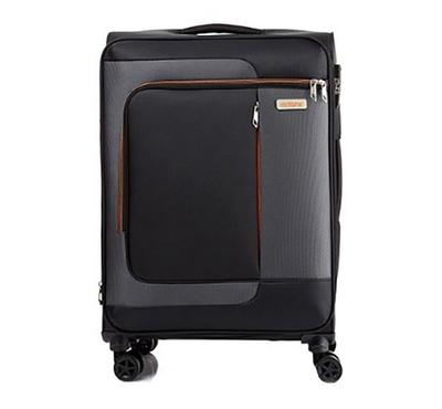 American Tourister Sens SP 68cm Luggage Carry Trolley Black Orange