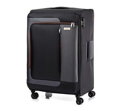 American Tourister Sens SP 82CM Luggage Carry Trolley Black Orange