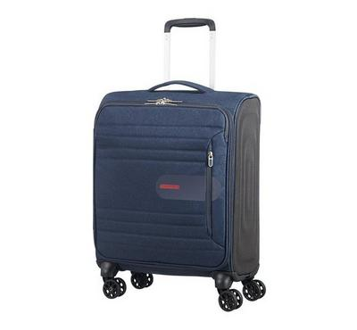 American Tourister Sonic Surfer 55CM Cabin Carry Trolley Navy Blue