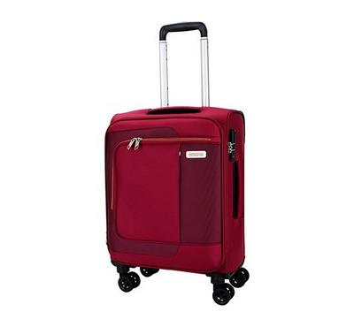 American Tourister Sens SP 55CM Cabin Carry Trolley Pomegranite Coral